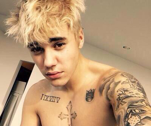 blonde, justin, and bieber image