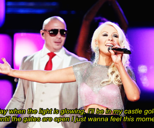 christina aguilera, pitbull, and global warning image