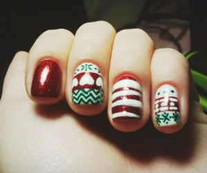 christmas, heart, and nail art image
