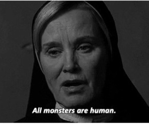 american horror story, monster, and human image