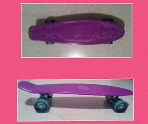 happy, mine, and skateboard image
