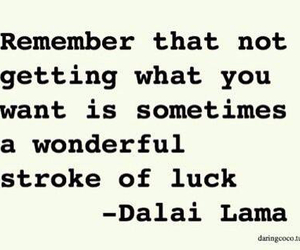 quotes, luck, and dalai lama image