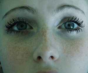 eyes, girl, and freckles image