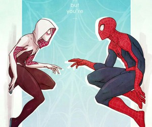 spiderman and spider gwen image