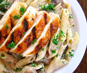 Chicken, food, and creamy image