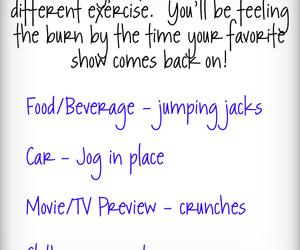 exercises, commercials, and healthy idea image