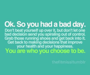 quote, fitness, and bad day image