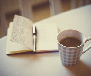 coffee, book, and cup image