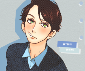 manga, hirunaka no ryuusei, and color image