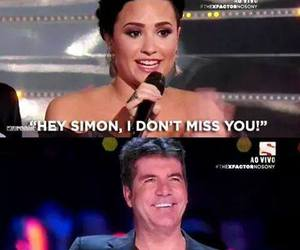 demi lovato and simon cowell image