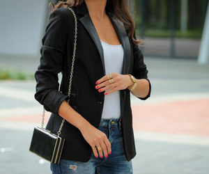 blazer, jeans, and clothes image