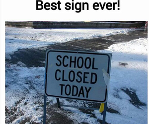 school, funny, and sign image