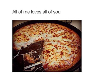 pizza, love, and delicious image