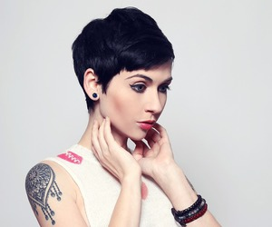 girl, pixie cut, and cute image