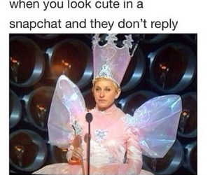 funny, snapchat, and ellen image