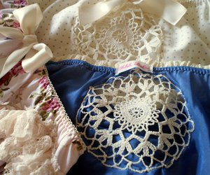 antique, panties, and blue image