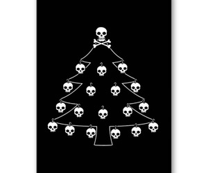 christmas, skulls, and tree image