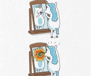 unicorn, rainbow, and tumblr image
