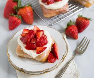 strawberry, dessert, and food image