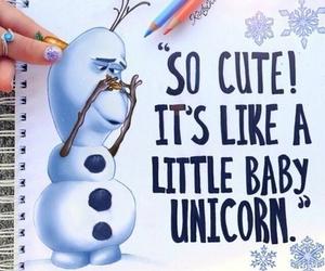 frozen, olaf, and unicorn image