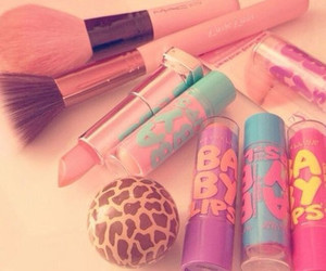 baby lips, makeup, and pink image
