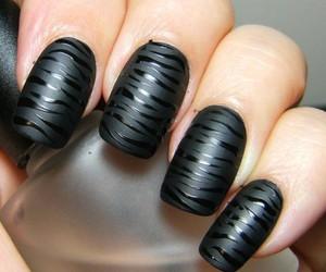 black, esmalte, and fashion image