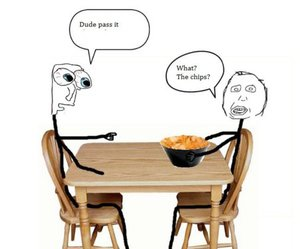 funny, lol, and chips image