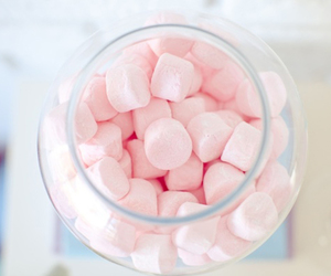 marshmallows, pastel, and pink image