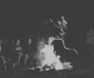 adventure, camping, and campfire image