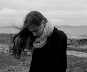 birdy, black and white, and skinny love image