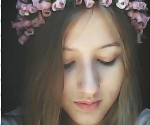 blonde, diy, and flower image