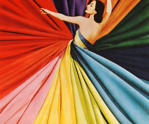 colors, dress, and woman image