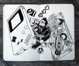 drawing, game, and game boy image