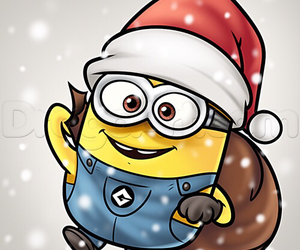 christmas, minions, and santa image