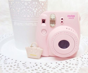 pink, camera, and girly image