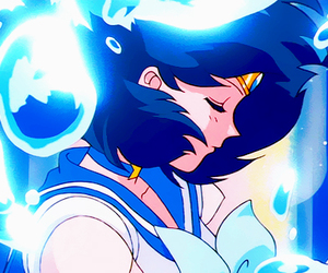ami, sailor mercury, and sailor moon image
