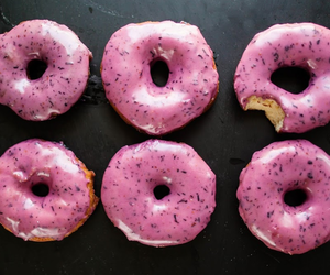 donuts, blueberry, and food image