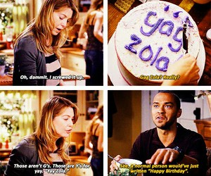 zola, grey's anatomy, and birthday image