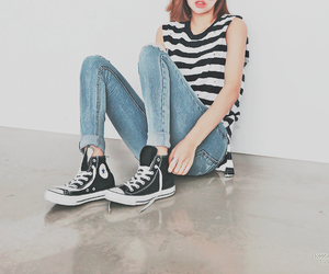 fashion, kfashion, and converse image