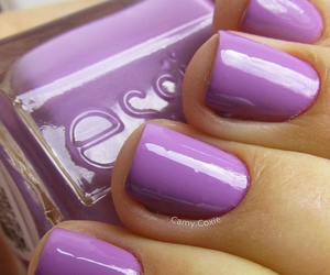 nails, girl, and purple image