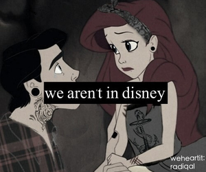 disney, ariel, and grunge image