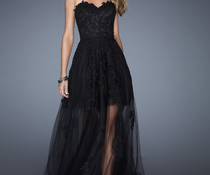 prom dresses, black, and cheap prom dresses image