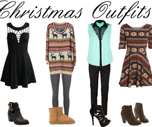 christmas and outfit image
