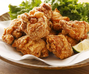 Chicken, japanese food, and karaage image