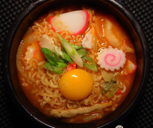 egg, korean food, and fish cake image