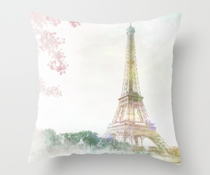 art, bed, and eiffel tower image