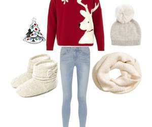 outfit, christmas, and sweater image