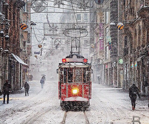 snow, istanbul, and winter image