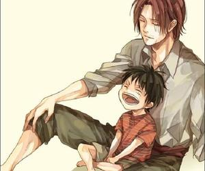 one piece, monkey d. luffy, and shanks image