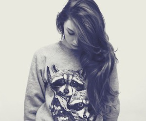 black and white, hipster, and sweater image